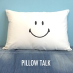 SMILE YES/NO PILLOW CASE [WHITE]