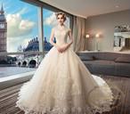 ウェディングドレス 結婚式 結婚 ドレス aライン 格安 ロングドレス ホワイト ビジュー 格安 ANKD242