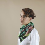Silk Scarf 'Hopeless Romantic' シルクスカーフ Green
