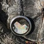 オパール原石ネックレスE(1点物)珍しい豪州産プレシャスオパール
