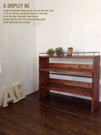 数量限定 CBS-85 シェルフ 棚 アイアン ディスプレイ 什器 キッチン 飾り カップボード 家具 収納 本棚 食器棚 花台 フラワースタンド サイズオーダー可能