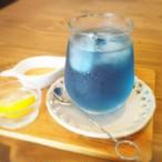 青いお茶 バタフライピー