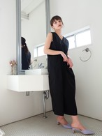 tuck sun-dress(black)