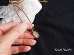 アーカンソー産ミニポイント水晶のプチペンダント(ゴールドブラウン色)