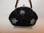黒色ビーズビィンテージバック black color bead vintage bag(made in Japan)(No68)