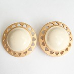 cream & gold round pierce[p-416]