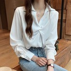 【トップス】ファッション長袖無地切り替えブラウス・シャツ24918453