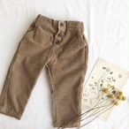 front botton corduroy pants