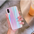 【XR/Xs対応】見る角度によって変わるピンクオーロラ(SPCa0135)◆スマホケース/iPhoneケース
