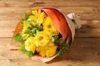 【プレゼントにぴったり】花束/イエロー&オレンジブーケ