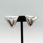 シルバー925 三角形 クリップイヤリング