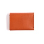 Postalco/Pressed Cotton Card & Coin Wallet/Brick Red【店頭在庫あり】