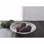 【 葡萄柄のスープ皿 】白磁 / 昭和レトロ / デッドストック