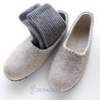 【25.5】蒸れずに年中履けるモンゴルSHEEP×100%ルームシューズ天然の暖かさで冷えから守り消臭効果あり