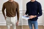 (MENS) カシミアニット セーター ニット メンズ メンズニット 韓国ファッション