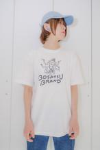 阿修羅Tシャツ 半袖 ホワイト 線ブラック(サイズM・L ) かわいい ゆったりサイズ 男女兼用 仏像Tシャツ