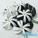 ティアレ M ヘアクリップ5個セット ウレタン造花ハワイアン、フラ、タヒチアン、衣装