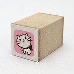 【こどものかお】カラーミニスタンプ(猫239)【猫雑貨 はんこ 1651-239】