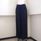 【hippiness】cupro shirring pants (Jacquard14navy) /【ヒッピネス】キュプラシャーリングパンツ(ジャガード14ネービー)