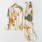 【パジャマ】プリント花柄スウィートプリント折り襟パジャマ33601438