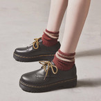 【送料無料】 おしゃれ靴♡ レースアップ シューズ おじ靴 オックスフォード フラット 厚底