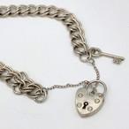 英シルバー925 padlock ブレスレット