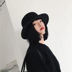 ハット 黒 帽子 モード シンプル