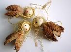3人の天使 木の実のオーナメント ドイツクリスマス