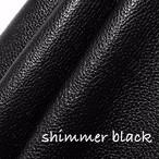 【レザー】カルトナージュ用イタリア製本革 36cm×36cm  shimmer black(抑え目のラメブラック)