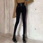 【bottoms】 着痩せファッションハイウエストデニムパンツ26945209
