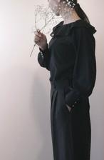 Black Lolita  フリルカラーブラウス