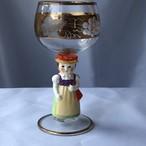 【特別価格】ドイツ Goebel ゲーベル Bockling ボックリング ワイングラス 少女No.1
