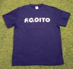 F.C.OITO ロゴTシャツ(紺×白)