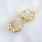 送料無料 gold / silver square metal*wrapped hoop earring