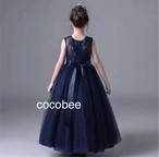 【即納/送料無料】大人気⭐︎レース リボン付き ロングドレス