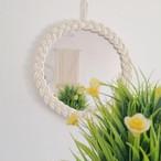 インテリア雑貨 雑貨 インスタ映え 小物 鏡 ミラー サークル ラウンド シンプル おしゃれ 壁掛け ロープ編みラウンドミラー