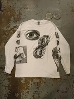 """MC ESCHER ALLOVER PRINT L/S TEE"" White Color"