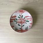 【波佐見焼】古赤絵牡丹唐津手作り丸小皿