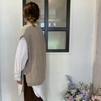 【インスタライブ紹介商品】Un carnet ケーブルニットチュニックシャツセット(S)