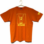 「RETHINK」Tee (Orange×LemonYellow)