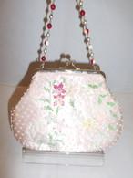 ピンクビーズビィンテージバック pink color bead vintage bag (made in Japan)