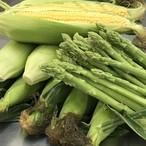 トウモロコシ10本とアスパラ1キロセット