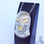 マスク マスクマン 覆面レスラー プロレス ジルコニア シルバー 銀 SILVER ネックレス ヒップホップ HIPHOP 1292