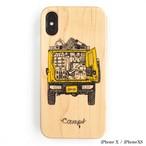 CAMPS iPhoneケース【テトリス積載de車中泊】ジムニー wood 木製カバー