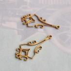 ヴィンテージ 真鍮のアールデコ、スタンピングチャーム(2コ)