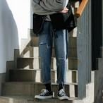 韓流デザインダメージジーンズ 新作 今季限り