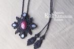 [Ruby] &[Moonstone] Mandara Pendant