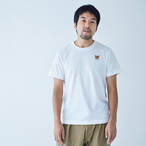 TEE SHIRT SMILE PATCH WHITE for MAN