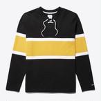 Lace-Up Hockey Jersey(Black/White/Gold)