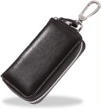 キーケース メンズ スマートキー対応 本革 カード入れ 8連フック 大容量 カラビナ付き / KC1
